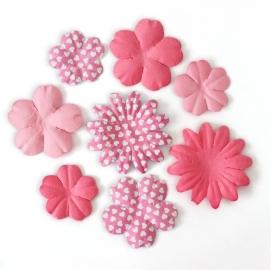Kwiaty Płatki mix różowy